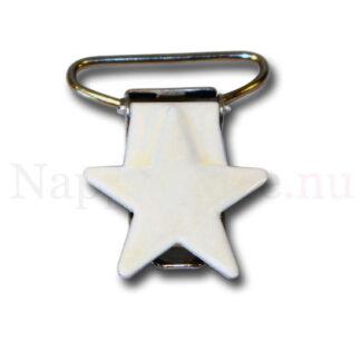Clips stjärna vit