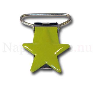 Clips stjärna äppelgrön