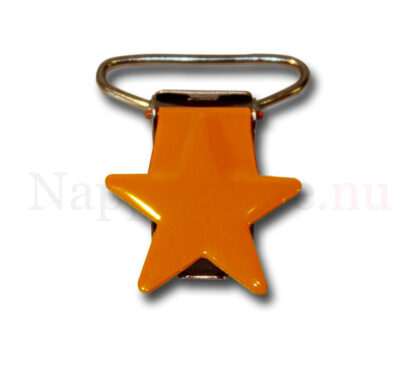 Clips stjärna orange