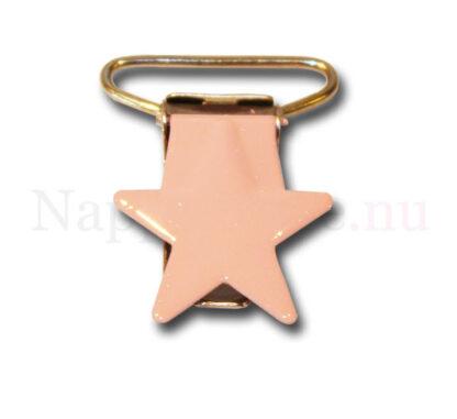 Clips stjärna babyrosa