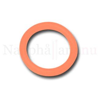 Nappring, röd (transparent) o-ring