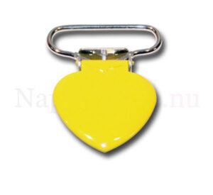Clips hjärta gul