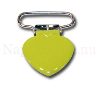 Clips hjärta limegrön