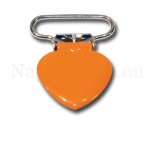 Clips hjärta orange