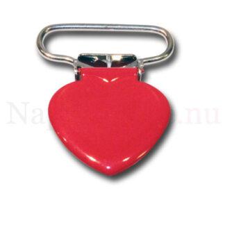 Clips hjärta röd