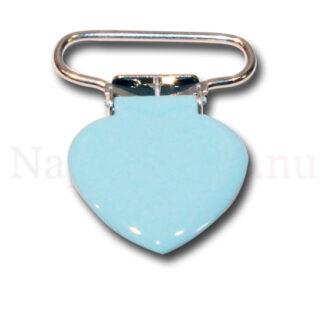 Clips hjärta babyblå