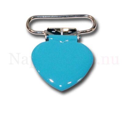 Clips hjärta petrolblå