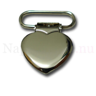 Clips hjärta silver/silvrigt