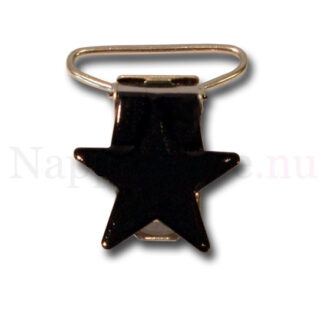 Clips stjärna svart till napphållare/nappband.