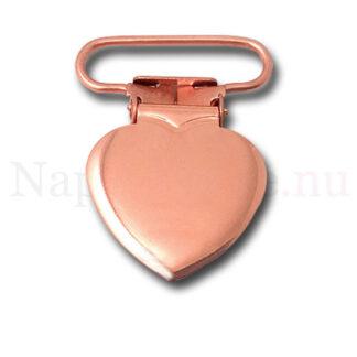 Clips hjärta rosé (roséshjärta/roséclips)
