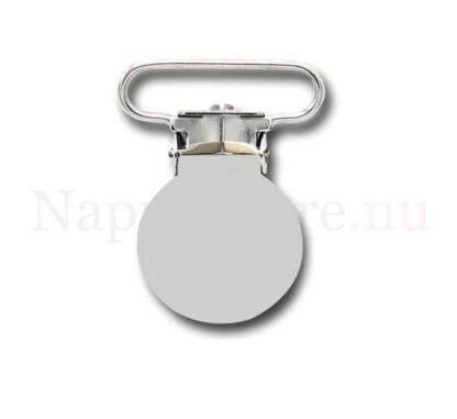 Clips rund vit till napphållare/nappband.