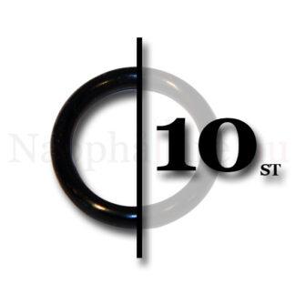 10-pack nappringar, o-ringar svarta