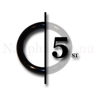 5-pack nappringar, o-ringar svarta