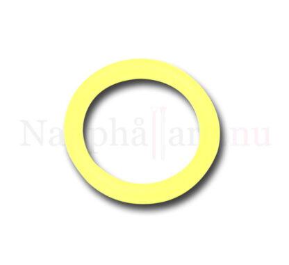 Nappring, gul transparant o-ring
