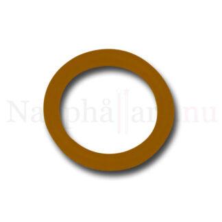 Nappring, brun (transparent, kolafärgad) o-ring